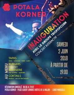 marseille inauguration brasserie potala korner parvis de la cathedrale major groupe de rock nime