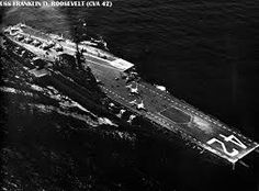USS Franklin D Roosevelt CV-42. Originally laid down as the Coral Sea but the name was changed when the president died in office. She was the first of her sisters (Midway and Coral Sea) to be retired.