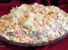 Pineapple Coleslaw Ingredients: cup mayonnaise cup sour cream 1 teaspoon grated onion 1 tablespoon lemon juice 1 teaspoon sugar 1 pinch salt 1 can pineapple chunk, drained 1 cup shredded carrot 2 cups shredded cabbage Directions: Mix and chill. Kos, South African Recipes, Ethnic Recipes, Pineapple Coleslaw, Vegetarian Cabbage, Coleslaw Mix, Coleslaw Recipes, Fried Fish, Fish Fry