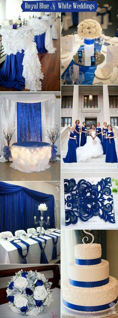 royal blue and white wedding color ideas/ shade of blue wedding cakes/ blue and white wedding cakes Wedding 2017, Chic Wedding, Trendy Wedding, Wedding Table, Fall Wedding, Dream Wedding, Wedding White, Wedding Vintage, Popular Wedding Colors