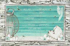 "Diftwood ""Relax"" Beach Style Stretch Canvas 90 x Beach Canvas, Metal Garden Art, House Wall, Bar Signs, Beach House Decor, Soy Candles, Lisa, Relax, Wall Decor"
