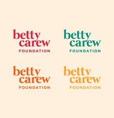 Custom text-based logo design by MK Design Studio for the Betty Carew Foundation Design Agency, Branding Design, Logo Design, Creative Studio, Creative Business, Foundation Brands, Logo Inspiration, Service Design, Web Design