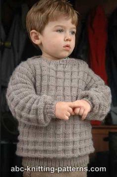Little Boy's Cuff-to-Cuff Sweater free pattern