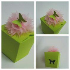 Paper punch craft tissue paper flower orangefuschia door gift box paper craft punch tissue paper flower mightylinksfo