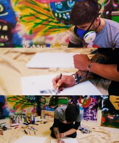 can i just say how awesome it is that he has his on freaking GRAFFITI ROOM?!?!?
