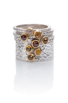 Pile of Rings by Martha Sullivan of South Portland, ME. 2015 NICHE Awards Finalist. Category: Jewelry- Wedding #ring, #weddingring