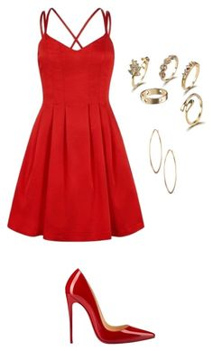 """""""Untitled #339"""" by xolafkax on Polyvore featuring Christian Louboutin and Lydell NYC"""