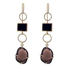 Yesim Yuksek for Alef - gold earrings #alefjewelry #yesimyuksek #finejewelry #contemporaryjewelry #designerjewelry #18kgold #earrings