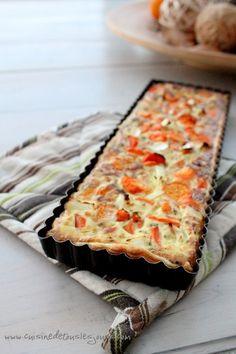 Tarte aux carottes, lait de coco et coriandre