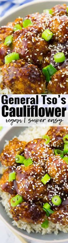 This vegan general tso's cauliflower is so crispy, delicious, and spicy-sweet! And it's just as good as the fried version, while being so much healthier! Welcome to cauliflower heaven!Find more vegetarian recipes at veganheaven.org <3