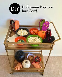 A DIY Halloween Popcorn Bar! — The Queen of Swag! And a giveaway for a $50 Dollar Tree Gift Card Giveaway