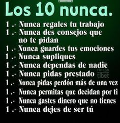 Los 10 nunca ........................