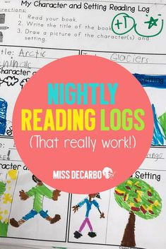 Is your nightly reading log helping you instill a positive reading habit and a love of literacy in your students? Learn how to make the most of your nightly reading log routine! #readinglog #nightlyreading #reading #readingstrategies #comprehension #literacy #missdecarbo