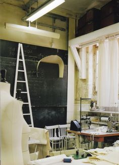 Workshop in the Maison Martin Margiela rue Saint-Maur offices, Paris