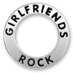 Girlfriends Rock Message Ring