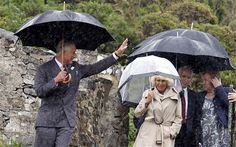 The Prince of Wales and the Duchess of Cornwall during their visit.