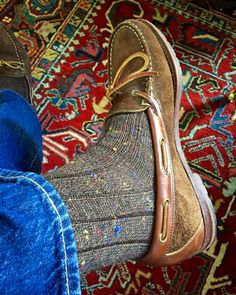 "abitofcolor: ""Donegal Alpaca blend socks are my Winter favorite with boots and camp Mocs. #mensfashion #mensshoes #style #fashion #sprezzatura #instafashion #style #workwear #levis #ralphlauren #gq #menswear #mensstyle """