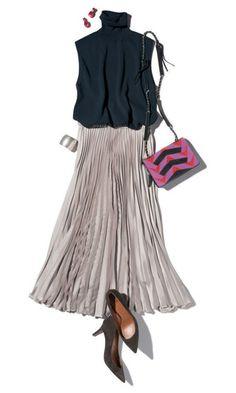 ファッション ファッション in 2020 Skirt Outfits, Chic Outfits, Spring Outfits, Fashion Outfits, Womens Fashion, Fashion Trends, Look Fashion, Daily Fashion, Fashion Design