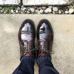 Alden 昨日は日中暑いくらいでしたね 今日くらいが過ごしやすいでしょうか #alden #cordovan #shoes #mensshoes #sotd #shoesoftheday #オールデン #コードバン #紳士靴 #革靴