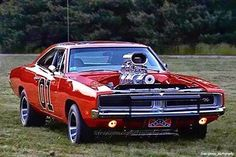 Blown General Lee - Dodge Charger.