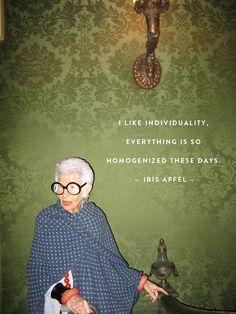 """Iris Apfel Only Approves of Plastic Surgery if You Have a """"Pinocchio Nose"""" Diy Outfits, Iris Apfel Documentary, Iris Apfel Quotes, Magnolia Pictures, Iris Fashion, Rare Birds, Advanced Style, Ballet, Fashion Quotes"""