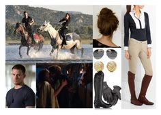 """""""(Read) Going for crazy horse ride with Liam and having their first kiss after return to stables"""" by duchess-of-cambridge ❤ liked on Polyvore featuring Tiffany & Co., Christian Dior, Roeckl, Ariat and Cavalleria Toscana"""