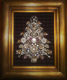 Vintage Jewelry Tree Art Assemblage By Johnny Sold Jewels