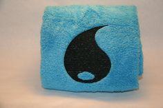 Pokemon Trading Card Game Inspired Hand Towel - Water Energy // by InspiredByNerd on Etsy