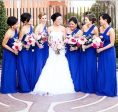 Aliexpress.com : Buy Charming Royal Blue Long Bridesmaid Dresses One Shoulder Sleeveless Aline Sweep Train Pleats Chiffon robe demoiselle d'honneur  from Reliable chiffon bridesmaid dress suppliers on Life&Peace Dress Store  | Alibaba Group