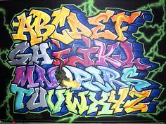 Chambre abécédaire graffiti - Chambre - LYONBOMBING