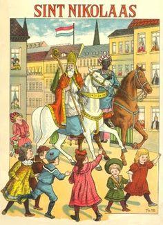 vintage sinterklaas kleurplaat