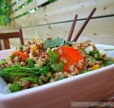 Quinoa Delight, Quinoa Salad with Arugula - Vegan, Gluten Free