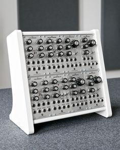 MATRIXSYNTH: White 'Easel' Eurorack Modular Synthesizer Case