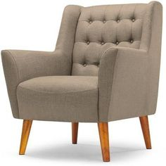 Quentin Armchair in Mink Brown, £349, from Made.com