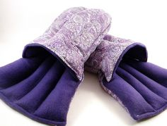 Microwave Heat Pack Slippers...what a great idea!