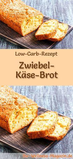 Rezept für Low Carb Zwiebel-Käse-Brot: Kohlenhydratarm, ohne Getreidemehl, gesund und gut verträglich ... #lowcarb #brot #backen