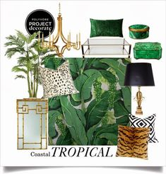 Tropical Coastal Decor: Polyvore's Project Decorate- The Glam Pad