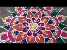 Rangoli Designs Latest, Rangoli Designs Flower, Small Rangoli Design, Rangoli Border Designs, Rangoli Designs Diwali, Diwali Rangoli, Rangoli Designs With Dots, Rangoli Designs Images, Indian Rangoli
