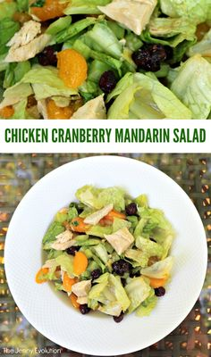 Business Cookware Ought To Be Sturdy And Sensible Easy Chicken Cranberry Mandarin Salad Recipe. Ideal Healthy Eating On Those Summer Days You Don't Want To Cook The Jenny Evolution Best Salad Recipes, Lunch Recipes, Real Food Recipes, Chicken Recipes, Dinner Recipes, Healthy Recipes, Easy Recipes, Amazing Recipes, Turkey Recipes