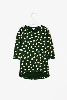 Dot print jersey dress