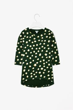 Dot print jersey dress from COS for kids - too cute.