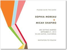 Signature White Save the Date Cards Perfect Prism - Front : Mandarin