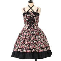 http://www.wunderwelt.jp/products/detail6939.html ☆ ·.. · ° ☆ ·.. · ° ☆ ·.. · ° ☆ ·.. · ° ☆ ·.. · ° ☆ Black floral jumper skirt ALICE and the PIRATES ☆ ·.. · ° ☆ How to order ↓ ☆ ·.. · ° ☆ http://www.wunderwelt.jp/user_data/shoppingguide-eng ☆ ·.. · ☆ Japanese Vintage Lolita clothing shop Wunderwelt ☆ ·.. · ☆