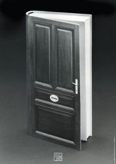 Book door - Books, books, books… / Libros, libros, libros…. (carteles de Gunter Rambow para la editorial alemana S. Fischer Verlag)
