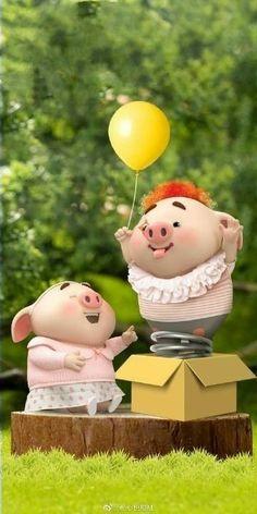 This Little Piggy, Little Pigs, Pig Wallpaper, Cute Piglets, Cute Images, Minis, Teddy Bear, Cartoon, Cool Stuff