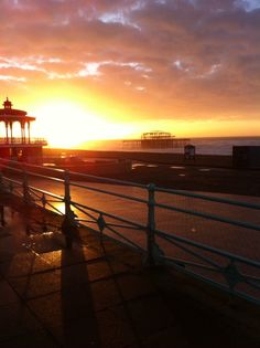 Hove bandstand with West Pier, Brighton in the distance