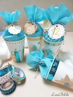 Make DIY advent calendars from paper cups - LeniBel.de - Make DIY advent calendars out of paper cups – LeniBel.de The Effective Pictures We Offer You Abou - Christmas Mood, Christmas Presents, Xmas, Christmas Activities, Christmas Crafts, Christmas Decorations, Diy Calendario, Diy Advent Calendar, Advent Calendars