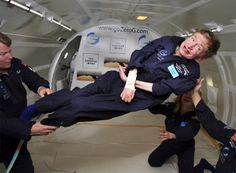Stephen Hawking in zero gravity. THIS IS FREAKING AWESOME