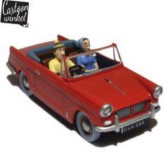 De Triumph Herald komt uit het stripboek: 'De Zwarte Rotsen', p.29. Ook deze auto is van uitstekende kwaliteit en mag zeker niet ontbreken in de verzameling Tintin auto's van de heuse Kuifje fan!