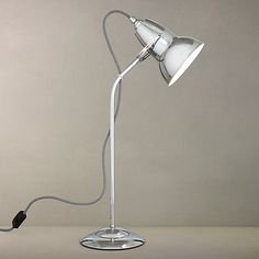 Buy Anglepoise Duo Table Lamp, Chrome/Black Online at johnlewis.com